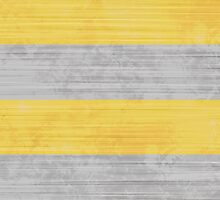 Brush Stroke Stripes: Silver and Gold by katmun