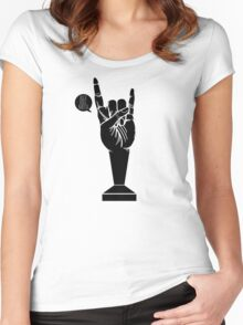 All Black Rock 'n Roll Barista Women's Fitted Scoop T-Shirt