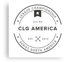Vintage CLG America Dark Canvas Print