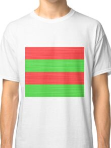 Brush Stroke Stripes: Red and Green Classic T-Shirt