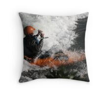 Whitewater Rush Throw Pillow