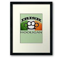 irish hooligan flag brass knuckles Framed Print