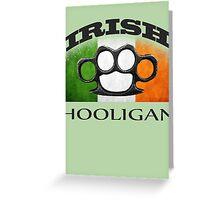 irish hooligan flag brass knuckles Greeting Card