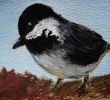 Chickadee Watercolor Painting  by librapat