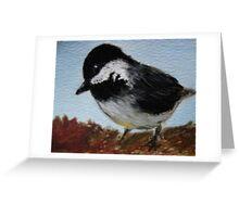 Chickadee Watercolor Painting  Greeting Card