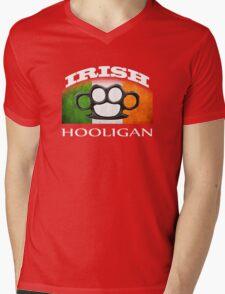 irish hooligan flag brass knuckles Mens V-Neck T-Shirt