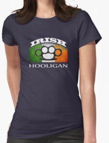 irish hooligan flag brass knuckles Womens Fitted T-Shirt
