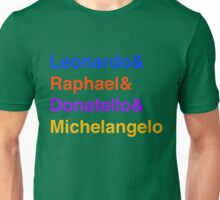 Ninja Turtle Name Unisex T-Shirt