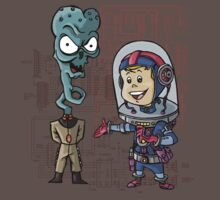 SpaceKid and General TangyRelish of the Neckadon Army by Steven Novak