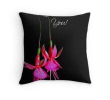 Dangling Fuchsia Throw Pillow