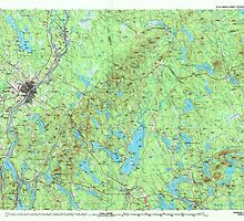 Maine USGS Historical Map Bangor 807770 1994 100000 by wetdryvac