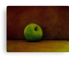A Green Apple Canvas Print