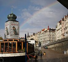 Rainbow in Prague by Chris van Raay