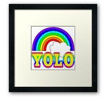 YOLO with Rainbow Framed Print