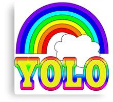YOLO with Rainbow Canvas Print