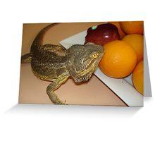Fruit tasting Greeting Card