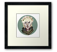 Flower Crown Cole Framed Print