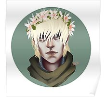 Flower Crown Cole Poster