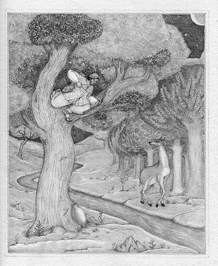 Shiva and the Hunter by Nestor
