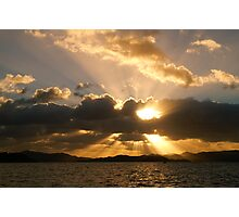 Sunset in the bay of Islands Photographic Print