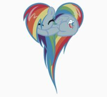 Heart Of Rainbow Dash Kids Tee