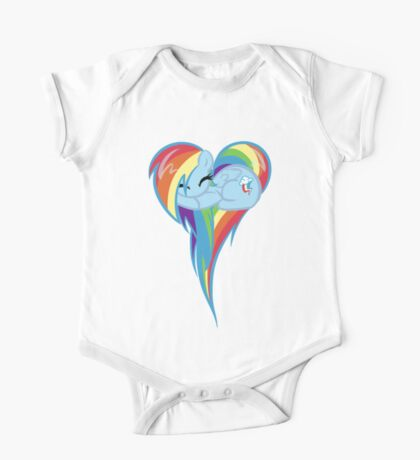 Heart Of Rainbow Dash One Piece - Short Sleeve