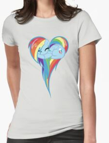 Heart Of Rainbow Dash Womens Fitted T-Shirt