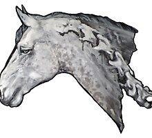 Mist Skeleton Horse by AlisonGilmartin