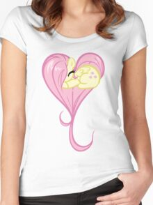 Heart Of Fluttershy Women's Fitted Scoop T-Shirt