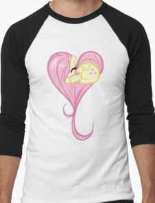 Heart Of Fluttershy Men's Baseball ¾ T-Shirt
