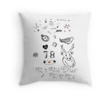 Louis Tattoos Throw Pillow