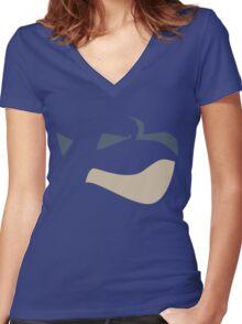 Blastoise Women's Fitted V-Neck T-Shirt