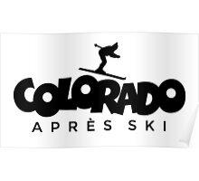 Colorado Apres Ski Design Poster