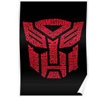 Transformers Autobots Red Poster