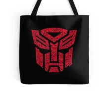 Transformers Autobots Red Tote Bag