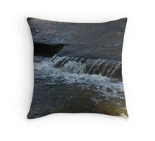 Water Running Throw Pillow