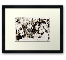"""Trace Monotype after Renoir's """"The Luncheon Of The Boating Party"""" Framed Print"""