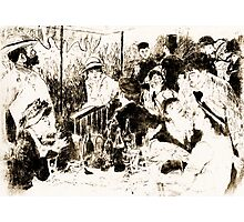 """Trace Monotype after Renoir's """"The Luncheon Of The Boating Party"""" Photographic Print"""