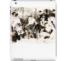 """Trace Monotype after Renoir's """"The Luncheon Of The Boating Party"""" iPad Case/Skin"""