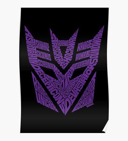 Transformers Decepticons Purple Poster