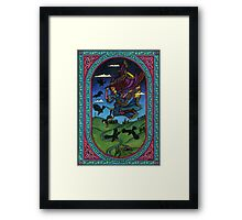 The witch and the ravens Framed Print