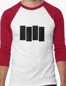 Black F Men's Baseball ¾ T-Shirt