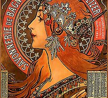 Savonnerie de Bagnolet by Alphonse Mucha (Reproduction) by Roz Abellera Art Gallery