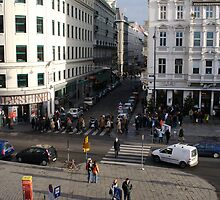 The streets of Vienna by Chris van Raay