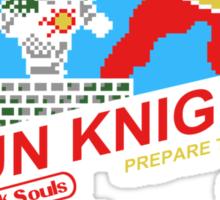 8 Bit Sun Knight Sticker