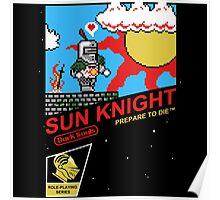 8 Bit Sun Knight Poster