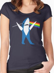 Left Shark of the Moon Women's Fitted Scoop T-Shirt