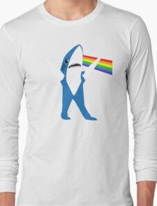 Left Shark of the Moon Long Sleeve T-Shirt