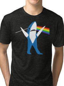 Left Shark of the Moon Tri-blend T-Shirt