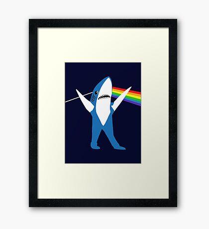 Left Shark of the Moon Framed Print